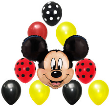 Birthday Party Decorations Mickey Mouse Red Black Yellow Polka dot Foil balloons