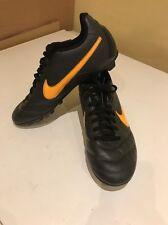 Black Orange Girls Nike Tiempo Football Boots Size 5.5.  509035-080 4/11/13