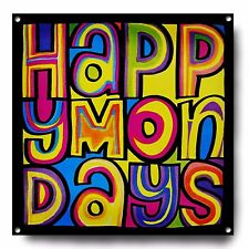 HAPPY MONDAYS METAL SIGN, MUSIC, POSTER, DECOR, SHAUN RYDER, MADCHESTER