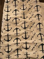 CHAATY & CO Anchors Premier Navy Duvet Cover Navy/White Twin