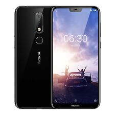 "Nokia X6 Black 5.8"" 4/64GB RAM 16MP 3 Camera Octa-Core Snapdragon 636 By FedEx"