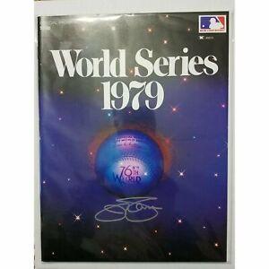 Jim Palmer AUTO SIGNED 1979 WS Program COA Baltimore Orioles