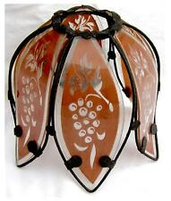 sehr schöner dekorativer Lampenschirm*Blüte*Blume*Ersatzglas*Lampenglas