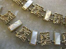 PREMIER DESIGNS Gold Tone Necklace & Bracelet Set w/ MOP Sections