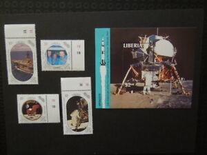 G1483  STAMPS LIBERIA 1989   SPACE APOLLO  SET  +SOUVENIR  SHEET  MNH