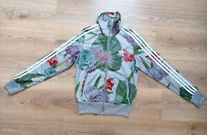 Adidas floral grey jacket