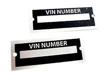 ID ViN Tag Plates (2) Number Replica Kit Car Replicar Hot Rod Street Rat Salvage