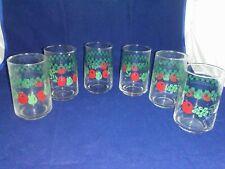 Set of 6 Corning Corelle FARM FRESH Juice Glasses