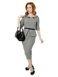 NEU Kleid schwarz weiß v.Collectif, Rockebilly,Retrostyle Swingkleid Gr.XL/42