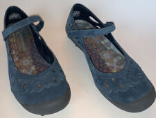 Skechers Navy / Relaxed Fit Leather Air-Cooled Memory Foam Walking Shoes Size 8