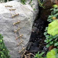 Miniature Fairy Garden Twig Rope Ladder