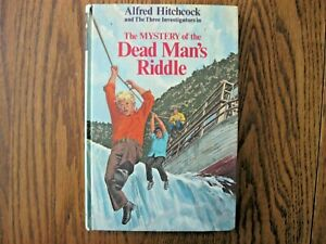 Alfred Hitchcock & 3 Investigators Mystery of Dead Man's riddle 1st ed Book 1974
