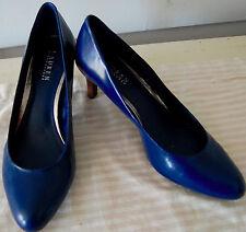 NEW Womens RALPH LAUREN High Heels Pumps Shoes HARPER Blue 11 B LEATHER Career