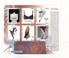 foglietto francobolli design italiano 2002 alta moda - 6 valori da 0.41 euro