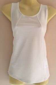 Select Ladies Top Ivory White A-Line Sleeveless Size 10 Stretch