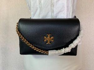 NEW Tory Burch Black Kira Mixed-materials Belt Bag $278