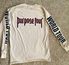 2016 Justin Bieber Purpose World Tour Long Sleeve sz M Shirt All Access Concert
