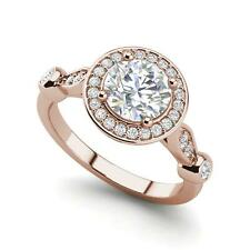 Diamond Engagement Ring Rose Gold Halo 4.1 Carat Vvs1/D Round Cut