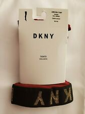 DKNY Women's Lurex Ribbed Control-Top Tights Crimson/Gold Tall