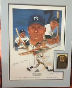 Mickey Mantle 1967 Autographed LE Print #501/ 536