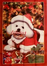 Outdoor House Flag Maltese Puppy Dog Willabee Ward Large 40 x 28 Inch Christmas