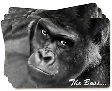 Gorilla 'The Boss' Fathers Day Gift Picture Placemats in Gift Box, AM-14P
