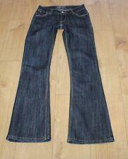 Dark Blue Denim DIESEL 1979 Zip Low Rise Bootcut Stonewashed Jeans Size 28 L 34