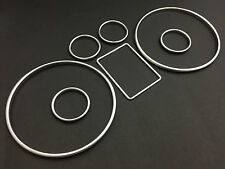 Audi A3 A4 A6 B5 C5 Silver Cluster gauge Dashboard ring speedo S line instrument