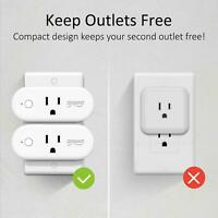 4 Pack Smart Plug 16A Wifi Outlet Work with Alexa Google Home Mini Socket