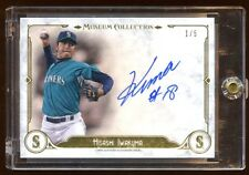 HISASHI IWAKUMA AUTOGRAPH #D 1/5 ONCARD AUTO 2014 MUSEUM COLLECTION  MARINERS !