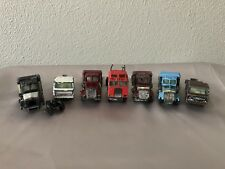 "RARE Vintage Lot of 7 Kenworth Yatming Die Cast Truck Cab BIG ""K"""
