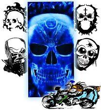 "NEW ""BLUE SKULL"" Multi Purpose Skull Cap - Doo Rag - Tube Headband Bandana Scarf"
