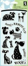 Dogs Clear Rubber Stamps Inkadinkado