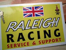 RALEIGH Racing SERVICE & SUPPORT Workshop Garage Sticker Sign Bike MOPED Chopper