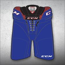 """New CCM Crazy Light U+ CL ice hockey pants senior XLarge XL royal waist 38""""-42"""""""