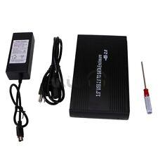 "3.5"" USB 2.0 SATA Hard Drive Disk HDD Enclosure Case Black 3210"