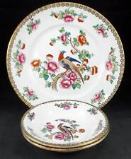 F Winkle PHEASANT (Smooth) Luncheon Plate & 2 Large Rim Soup Bowls A+ CONDITION