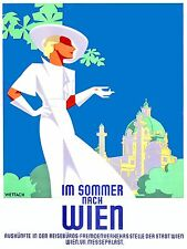 1935 Vienna Austria Travel Poster High Quality Metal Magnet 3 x 4 inches 9563