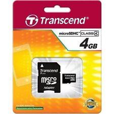 Cartes mémoire Transcend microsdhc pour téléphone mobile et assistant personnel (PDA), 4 Go