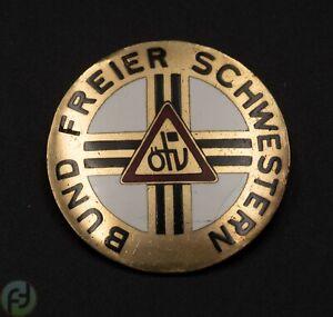 Brosche Bund Freier Schwestern - B.H.Mayer Pforzheim - 5855 - ÖTV - Ø ca. 4cm
