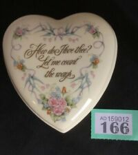 """Wedgewood Heart Shaped Trinket Pot """"How Do I Love Thee..."""" Valentines Day"""