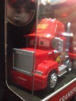 Disney Cars Mini Racers Mack Transporter Truck Includes  Lightning McQueen Car