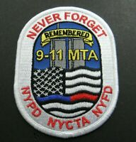 USA 911 SEPTEMBER 11 REMEMBRANCE VOLUNTEER NYPD NYFD FIRE EMBROIDERED PATCH 4.25