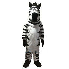 Zebra Mascot Costume Horse Cartoon Animal Party Cosplay Dress Adult Fancy Outfit