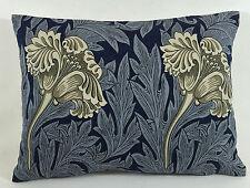 William Morris Tulipe Indigo/Lin Housse De Coussin 40.6cmx30.5cm Beau Tissu