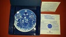Royal Copenhagen 1998 Childrens Christmas Plate Nib Dancing Aroud Christmas Tree