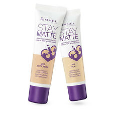 RIMMEL LONDON STAY MATTE LIQUID MOUSSE FOUNDATION NO 200 SOFT BEIGE NEW 30ML
