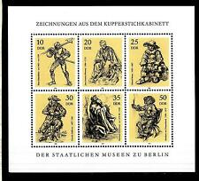 GERMANY - GERMANIA - DDR - 1978 - Disegni incisori su rame Musei di Berlino BF