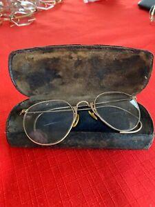 Vintage Eyeglasses in Case Aviator Ful-Vue  AO 1/10 12 K GF