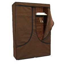 "43"" Portable Canvas Wardrobe Clothes Closet Storage Organizer Shoe Rack Shelf"